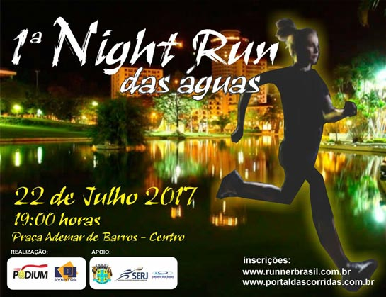 1o night run águas de lindoia