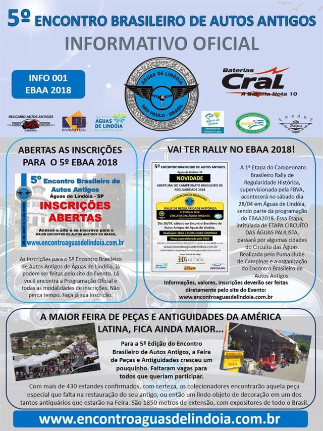 5o. encontro brasileiro de autos antigos de águas de lindoia 2018