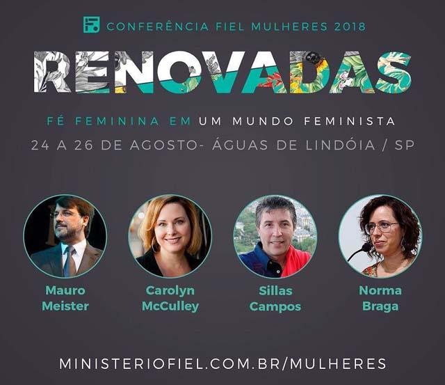 conferência fiel mulheres, agosto 2018 águas de lindoia