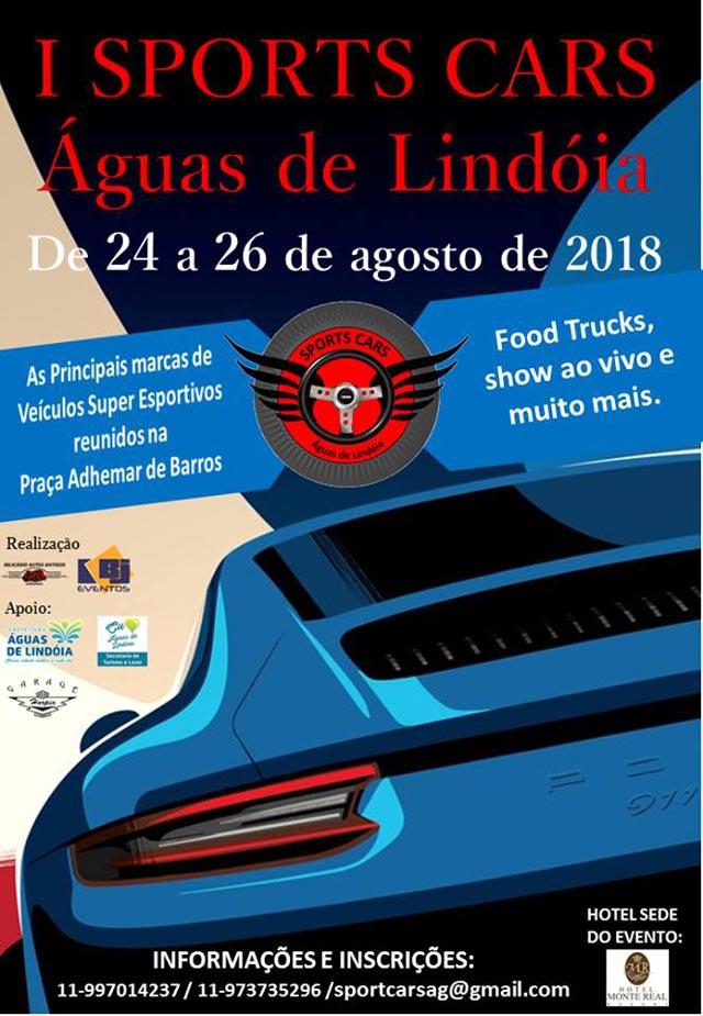 1o. Sports Cars Águas de Lindoia, de 24 a 26 de agosto de 2018
