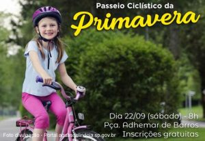 Passeio Ciclístico celebra chegada da Primavera 2018 em Águas de Lindoia