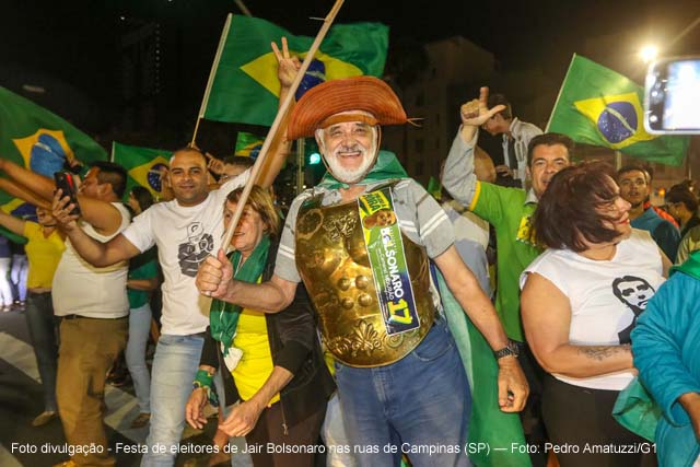 Jair Bolsonaro do PSL e João Doria do PSDB foram os vitoriosos com ampla vantagem na região de cobertura do G1 na região de Campinas.
