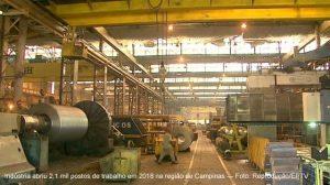 Regional da Ciesp de Campinas registra abertura de 2,1 mil vagas de emprego na indústria em 2018,