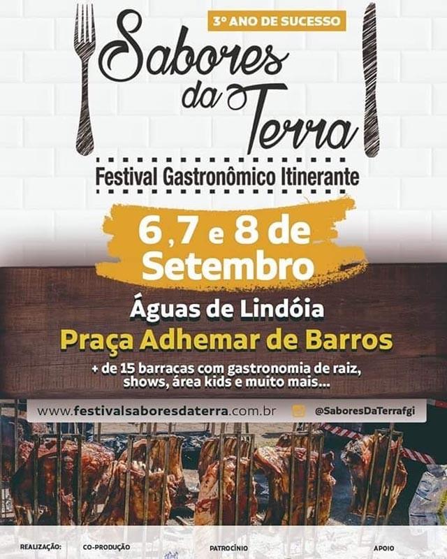 Sabores da Terra em Águas de Lindoia, Festival Gastronômica Itinerante, Pça Adhemar de Barros.
